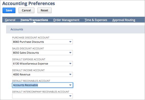 Accounts Receivable Set Up Option 1