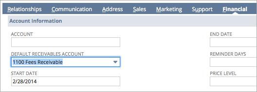 Accounts Receivable Set Up Option 2