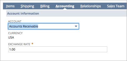 Accounts Receivable Set Up Option 3