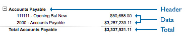 Financial Sections Screenshot 1